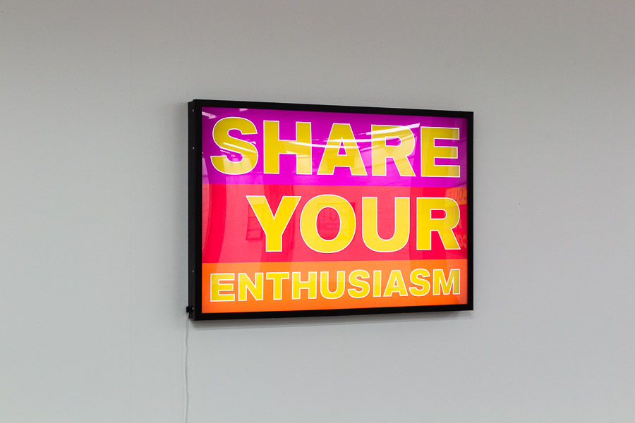 SHARE YOUR ENTHUSIASM