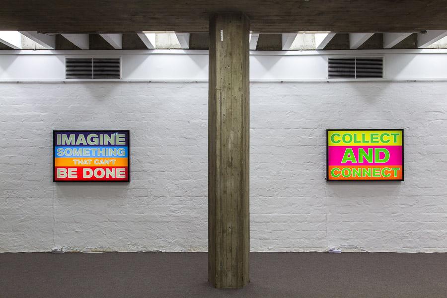 Blick in die Ausstellung im Kunstverein Ingolstadt