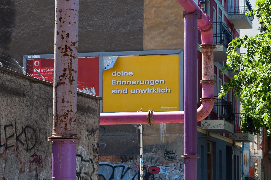 deine Erinnerungen sind unwirklich (Gürtelstraße 25a / Wiesenweg)