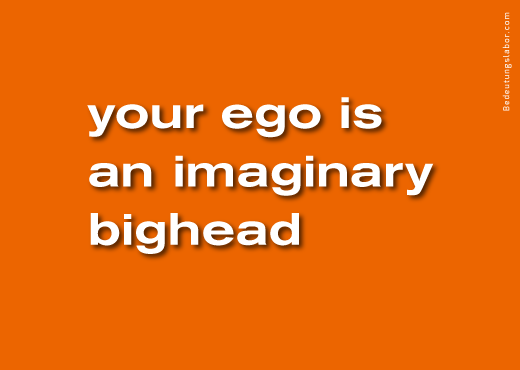 your ego is an imaginary bighead<br />(billboard motif from Your Brain is Your Brain, Bedeutungslabor.com)