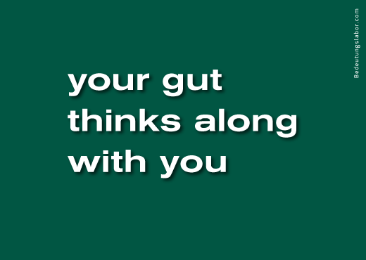 your gut thinks along with you<br />(billboard motif from Your Brain is Your Brain, Bedeutungslabor.com)